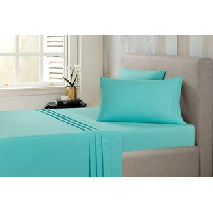 Shop Dehaan Brushed 144 Thread Count Solid 100% Cotton Sheet Set (Set of 3) ByCharlton Home