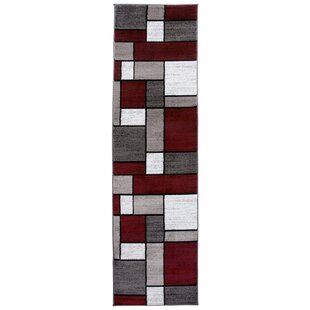 Compare & Buy Brampt Boxes Red/Gray Area Rug ByWade Logan