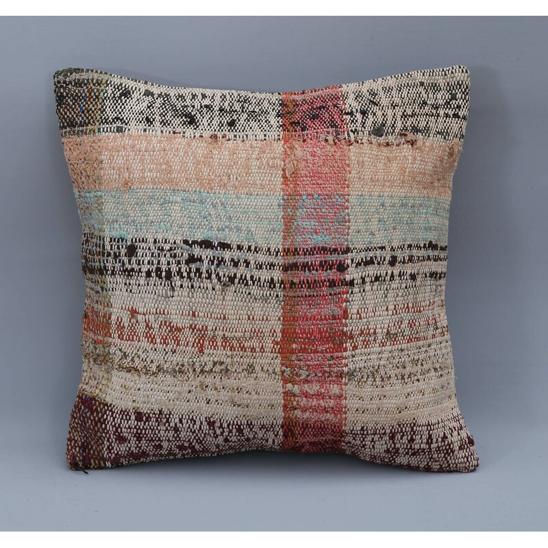 Foundry Select Gurney Slade Square Wool Pillow Cover And Insert Wayfair