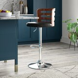 Humphery Swivel Adjustable Height Bar Stool by George Oliver