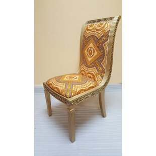Cleobury Upholstered Dining Chair in Champagne by Rosdorf Park