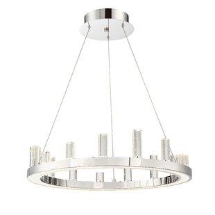 Orren Ellis Kitts LED Wagon Wheel Chandelier