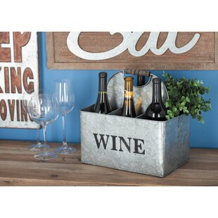 Metal 6 Bottle Tabletop Wine Bottle Rack ..