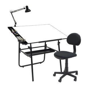Offex Ultima Melamine Drafting Table and Chair Set