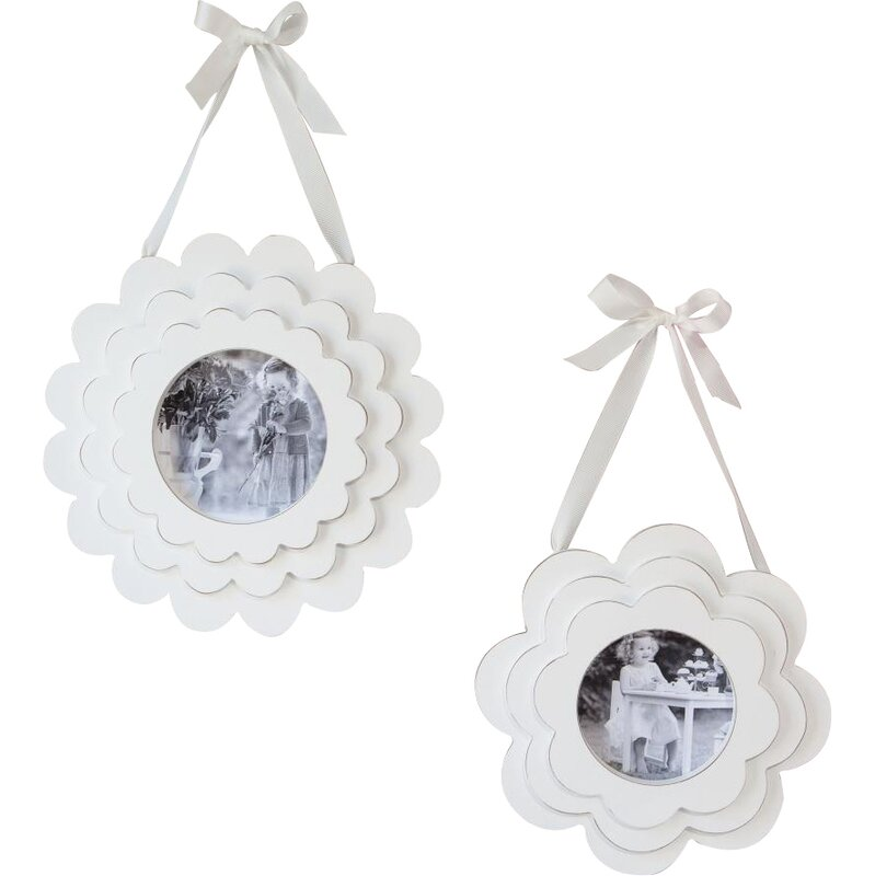 Viv + Rae Herdon 2 Piece Layered Flower Wood Hanging Picture Frame ...