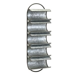 Manke Galvanized Iron Wall Floor Wine Bottle Rack by Williston Forge