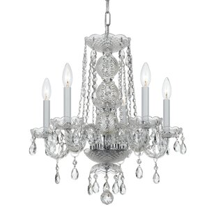 House of Hampton Catchings 5-Light Crystal Chandelier