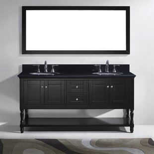 Buy clear Cicely 73 Double Bathroom Vanity Set with Mirror By Gracie Oaks