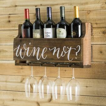 Ebern Designs Atilla Rails 1 Bottle Wall Mounted Wine Bottle Rack Wayfair