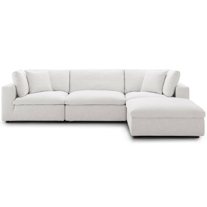 Wondrous Clarita Overstuffed Modular Sectional With Ottoman Download Free Architecture Designs Scobabritishbridgeorg