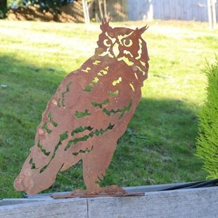Rockmart Owl Garden Silhouette Fixing Plate Wall Decor By Sol 72 Outdoor