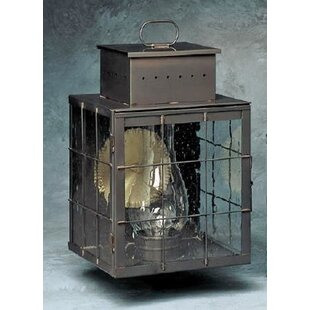 Clearance Wildes 1-Light Outdoor Wall Lantern By Breakwater Bay