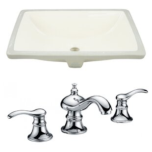 Online Reviews CUPC Ceramic Rectangular Undermount Bathroom Sink with Faucet and Overflow By Royal Purple Bath Kitchen