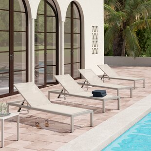 Royalston Mesh Chaise Lounge (Set of 4)