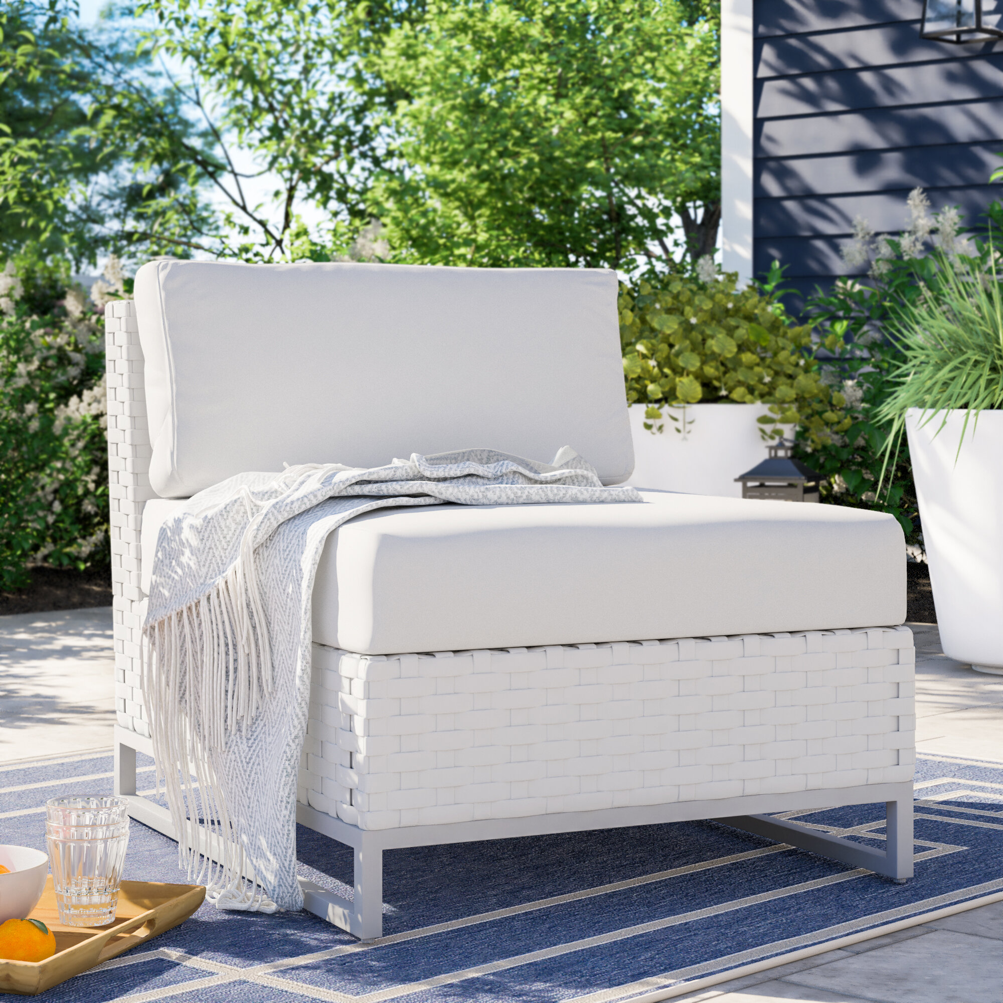 Armless Outdoor Club Chairs You Ll Love In 2021 Wayfair