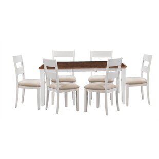 Bennet 7 Piece Extendable Solid Wood Dining Set Alcott Hill