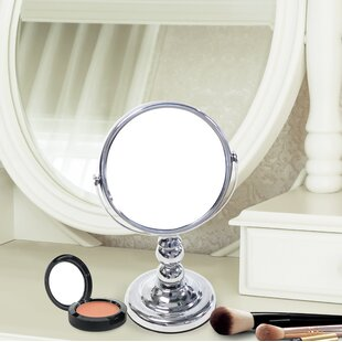 Searching for Dittman Mini Round Double Sided Magnifying Standing Makeup/Shaving Mirror ByCharlton Home