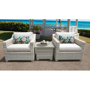 Fairmont 3 Piece Outdoor Sofa Seating Group with Cushions by TK Classics