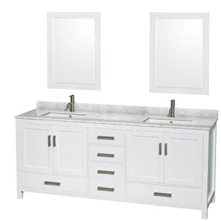 Sheffield 80 Double Bathroom Vanity Set with Mirror