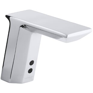 Kohler Geometric Single-Hole Touchless Dc-Powered Commercial Bathroom Sink Faucet with Insight Technology and 6-3/4