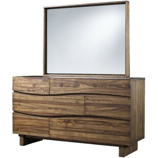 Hiram 6 Drawer Standard Dresser/Chest with Mirror