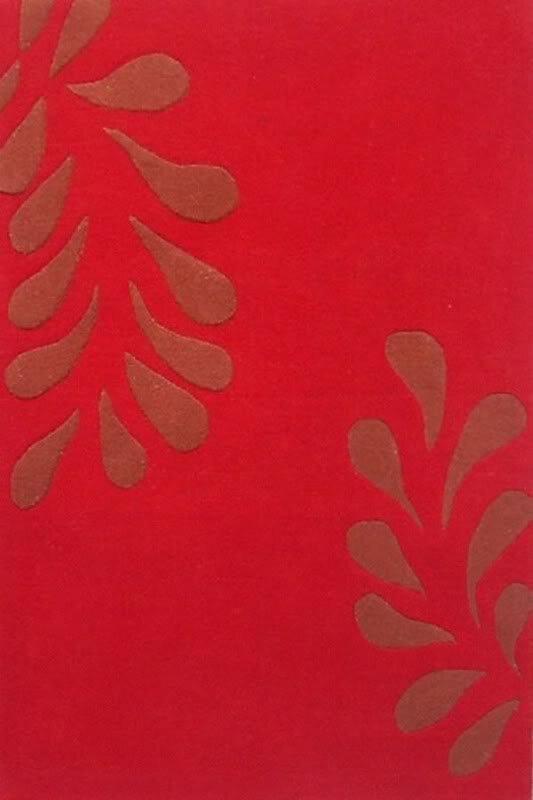 Acura Rugs Modern Hand Tufted Wool Red Rug Wayfair