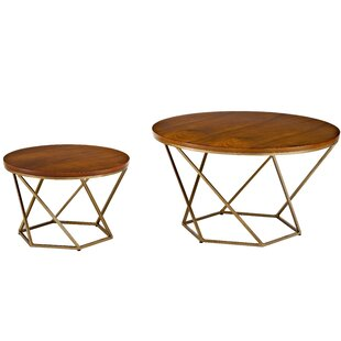 Dunavant Wood 2 Piece Coffee Table Set with Tray Top