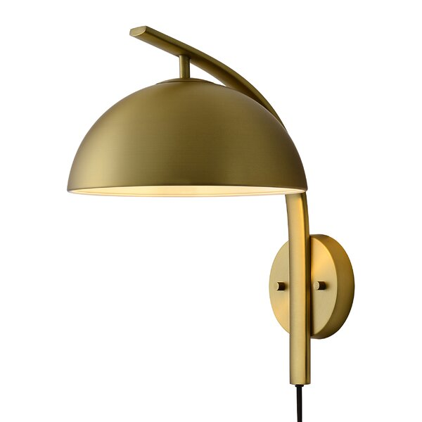 1 Light Plug In Matte Black Armed Sconce Allmodern