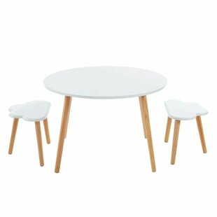 Rachelle LChildren's 3 Piece Table And Chair Set By Isabelline
