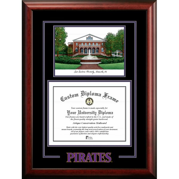 Campus Images Ncaa East Carolina Pirates Spirit Graduate Diploma With Campus Images Lithograph Frame Wayfair