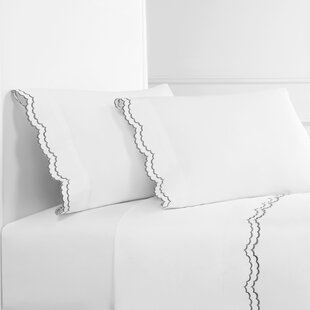 Brandt Double Scalloped 300 Thread Count 100% Cotton Sheet Set