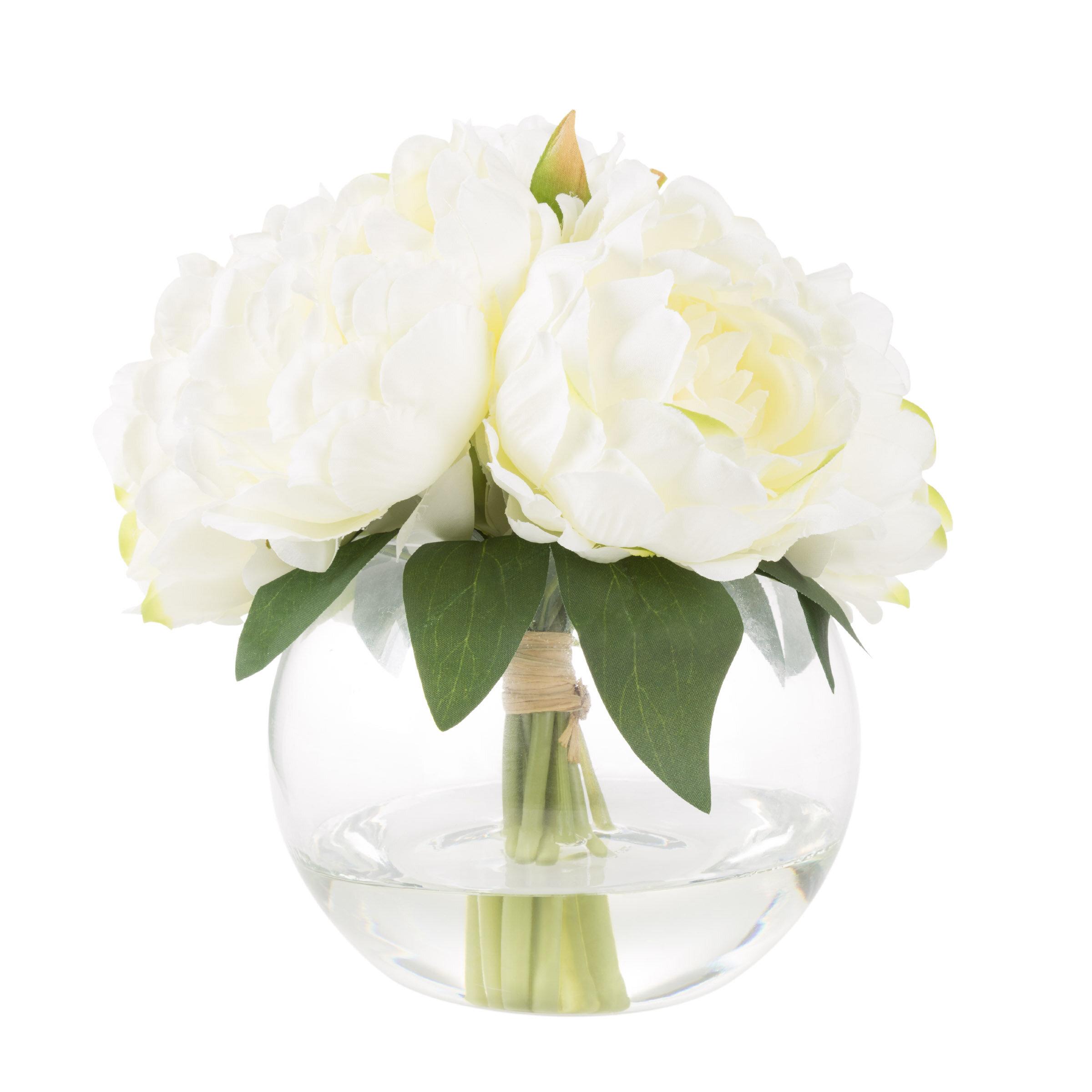 Gracie Oaks Rose Floral Arrangement and Centerpieces in Glass Vase \u0026 Reviews   Wayfair  sc 1 st  Wayfair & Gracie Oaks Rose Floral Arrangement and Centerpieces in Glass Vase ...