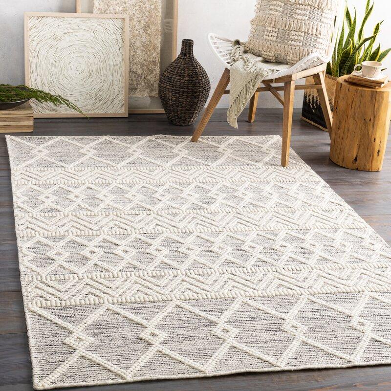 Bynes Oriental Handmade Flatweave Wool Cream Gray Area Rug Reviews Allmodern