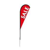 Super Flutter Tail 13 Ft Tall Advertising Banner Swooper Bow Flag HOT PINK