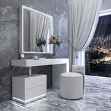 Lowrance Vanity Set with Stool by Everly Quinn