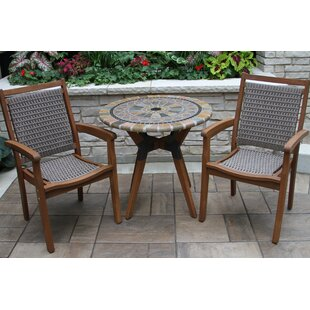 Rhett Matte Stone 3 Piece Bistro Set by Langley Street