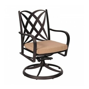 Apollo Rocker Swivel Patio Dining Chair with Cushion By Woodard