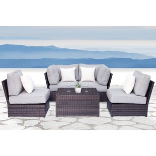Brayden Studio Simmerman 5 Piece Sectional Set with Cushions