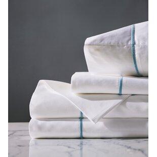 Dori 300 Thread Count Solid Color 100% Cotton Sateen Sheet Set