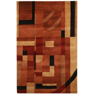 Velho Hand-Knotted Rust Area Rug By Meridian Rugmakers