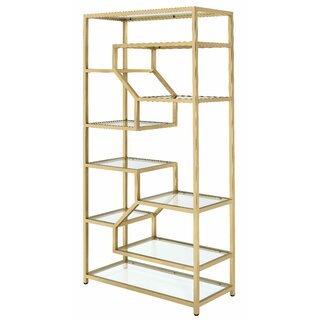 Alida Geometric Bookcase by Everly Quinn SKU:DA430830 Check Price