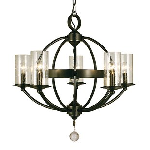 Framburg Compass 5-Light Shaded Chandelier