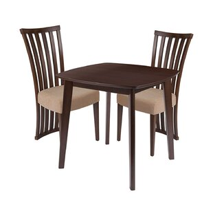 Jeremy 3 Piece Solid Wood Dining Set by Ebern Designs