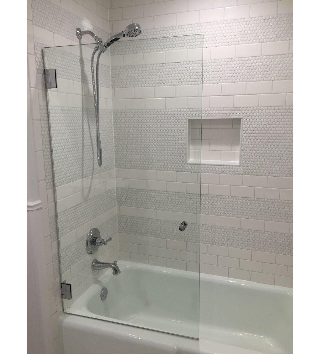 Glass Warehouse 34 W X 58 H Frameless Tub Door Reviews