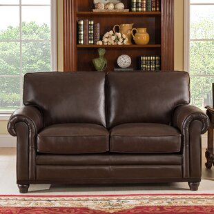 Coventry Top Grain Leather Loveseat by Westland and Birch Great price