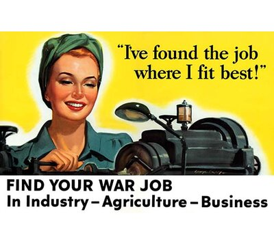 Find Your War Job Vintage Advertisement Buyenlarge Size 66 H X 44 W