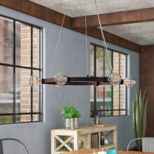 Williston Forge Hallberg 6-Light Wagon Wheel Chandelier