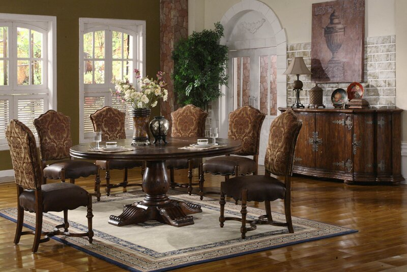 EasternLegends Burgundy Dining Table & Reviews | Wayfair