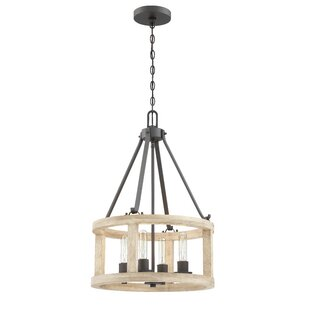 Union Rustic Maranda 4-Light Foyer Pendant