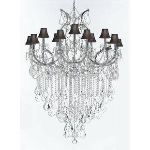 Astoria Grand Alvarado 16-Light Shaded Crystal Chandelier